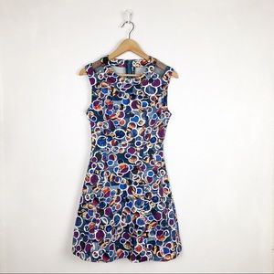 Esley fit and flare circle print dress